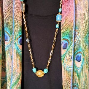 Jewelry - 🌹3for$20 Necklace with Green and Gold Beads